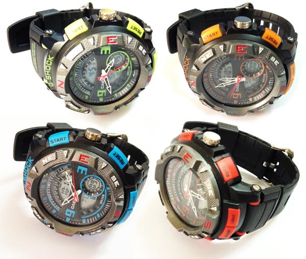رنگ های ساعت جی شاک