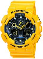خرید ساعت کاسیو اس شاک زرد